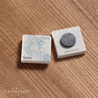 Basin Map Marble Magnet