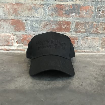 WaterFire Providence Baseball Hat Black on Black