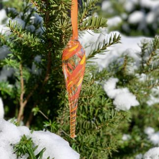 Orange Twist Glass Ornament